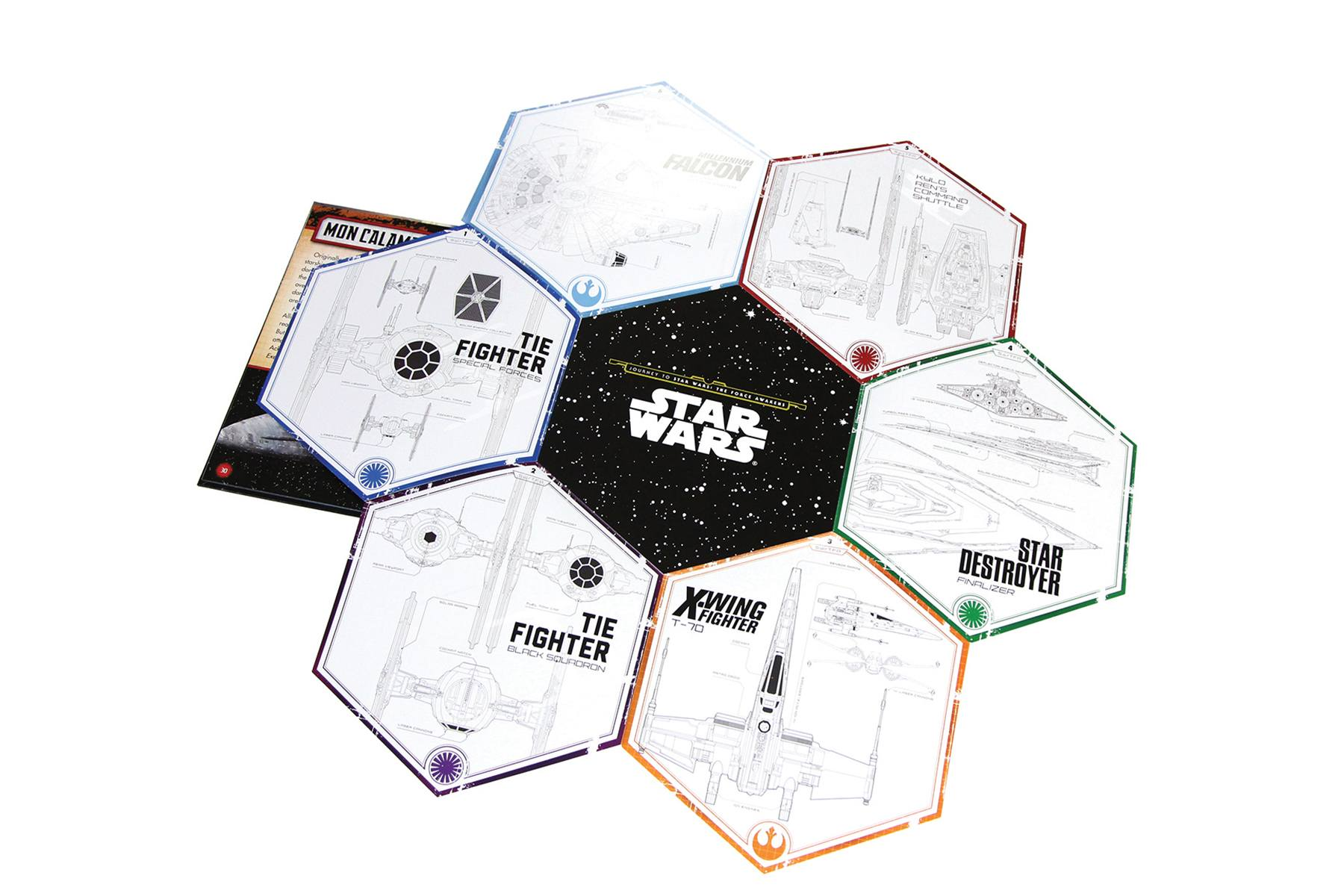 Star Wars - Ships of the Galaxy Trivia Book Buch Trivial Wissen Knowledge Star Wars R2D2 On-Pack Co-Pack Druck Print Verpackung Schachtel Karton Packaging Box Starlite Veredelung Finish UV-Lack Colour 4c