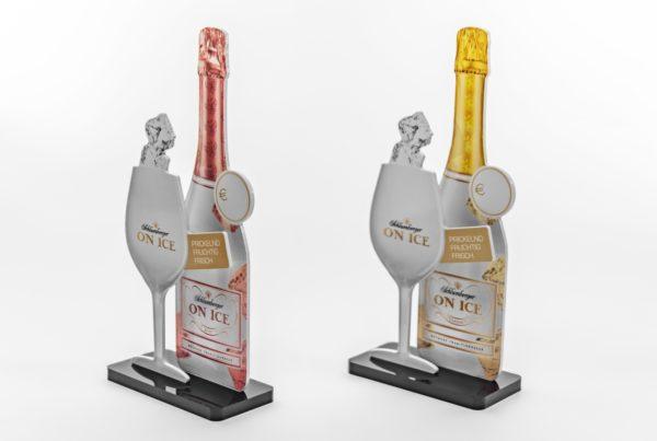 Schlumberger On Ice - Menucardholder Sekt Secco Menukartenhalter Kartenhalter Menu Holder Sparkling Wine Sekt Champus Champagner Gastro